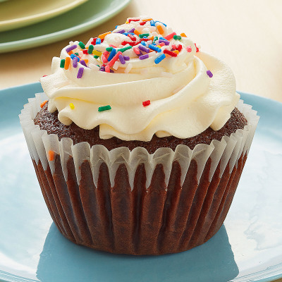 Chocolate Cupcake Vanilla Buttercream Icing Sprinkles