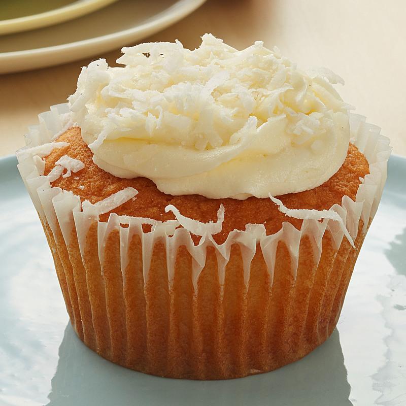 Coconut Cupcake Vanilla Buttercream Coconut Sprinkles