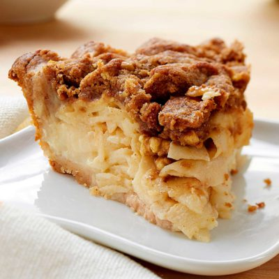 Sour Cream Apple Walnut Pie