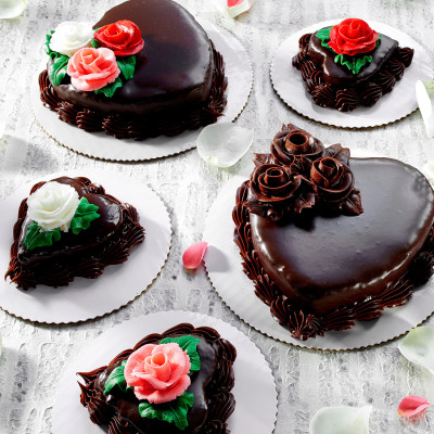 Valentine's Day Chocolate Heart Cake