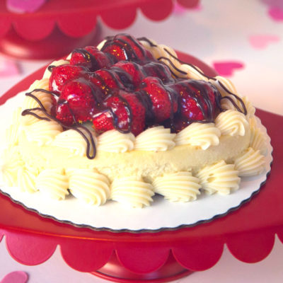 Valentine's Day Strawberry Cheesecake