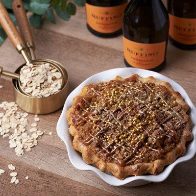 Ruffino Prosecco Salted Caramel Pie
